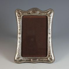 Antique Sterling Silver Hallmarked Photo Picture Frame, Repousse from julietjonesvintage on Ruby Lane Antique Picture Frames, Photo Picture Frames, Antique Desk, Desk Accessories, Photos, Pictures, Ruby Lane, Sterling Silver, Antiques