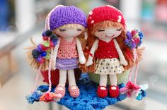 Gorgeous crochet dolls.♡ (Inspiration).