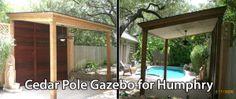 Cedar Pole Gazebo fo