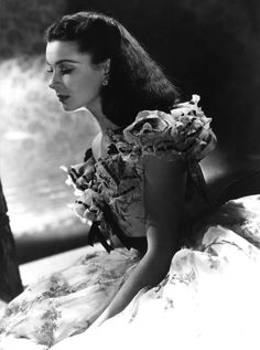 Great beauty Vivien Leigh in a stunning B&W still for the immortal movie Gone With the Wind. Technicolor is gorgeous, but when B&W is done right, it can be incredible. (And having a beautiful subject doesn't hurt either!)