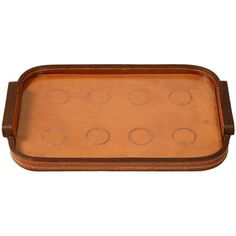 "Breathtaking Vintage French ""Hermes"" Stitched Leather Tray 