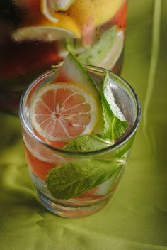 Add hints of watermelon, mint and lemon for a refreshing mid-summer beverage. Lemon Infused Water, Infused Water Recipes, Mint Recipes, Summer Recipes, Summer Food, Summer Drinks, Fruit Flavored Waters, Brunch Items, Watermelon Mint