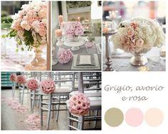 Le tue nozze in grigio, avorio e rosa