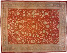 """Oushak & Turkish 19' 1"""" x 14' 10"""" Antique Oushak at Persian Gallery New York - Antique Decorative Carpets & Period Tapestries"""