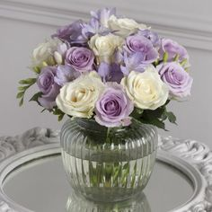 Lilac Rose & Freesia Vase by Next