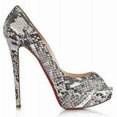 Discount Christian Louboutin Shoes   Cheap Christian Louboutin Banana 140 Python Pumps Red Bottom Shoes For ...