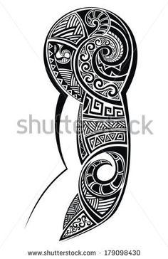 Tattoo designed for a shoulder - stock vector