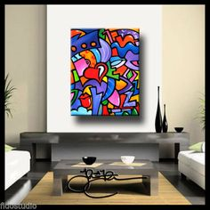 Original Abstract painting Modern Home Decor HUGE Canvas Wall Art by Fidostudio  in Art, Direct from the Artist, Paintings | eBay