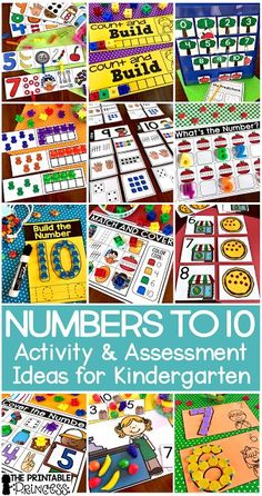 Click through to find a Numbers to 10 Assessment FREEBIE and activities that are just perfect for Kindergarten and PreK. In this post you'll find the assessment for numbers to 10 freebie, counting activities, whole group games, math centers, and much more