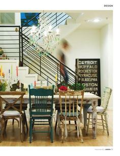 Flea Market Chic......Love this Farmhouse Table with mismatched chairs!!