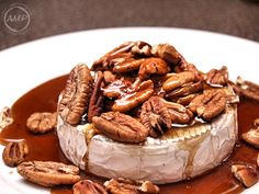 Recipe for fall appetizer - brie and pecans. SO yummy! Definitely a fave.