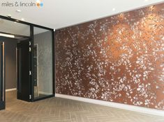 Laser cut foyer screens - City Suites - Miles and Lincoln - Laser Cut Screens Laser Cut Screens, Laser Cut Panels, Exposed Ceilings, Compass Design, Laser Cut Patterns, Moss Wall, Architectural Features, Laser Cutting, Mirrors