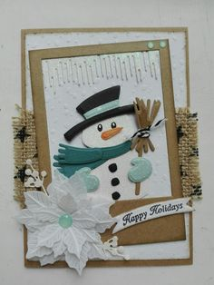 Quilling Christmas, Beaded Christmas Ornaments, Diy Christmas Cards, Xmas Cards, Marianne Design Cards, Hand Made Greeting Cards, Snowman Cards, Arts And Crafts, Paper Crafts