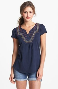 Lucky Brand 'Veronica' Embellished Tee available at #Nordstrom