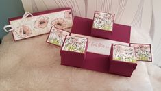Exploding Box Card, Diy Cadeau, Diy And Crafts, Paper Crafts, Explosion Box, Stampin Up, Mini Albums, Projects To Try, Gift Wrapping