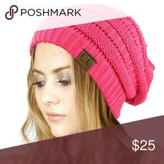 COMING SOON BRAND NEW BEST SELLING ITEM the C.C. BEANIE in the color CANDY PINK is the color C.C. Accessories Hats