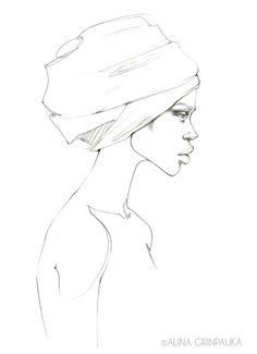 PENCIL FASHION DRAWINGS by Alina Grinpauka, via Behance