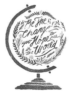 Love the way the illustration and the brush lettering is perfectly balanced in the globe. Serious lettering right here. Typography Letters, Typography Design, Chalk Typography, Typography Served, Typographie Logo, We Are The World, Grafik Design, How To Raise Money, Beautiful Words