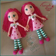 Samyelinin Örgüleri: Strawberrygirls Red Riding Hood, Line Design, Crochet Toys, Baby Boys, Martini, Ravelry, Diy Crafts, Christmas Ornaments, Holiday Decor