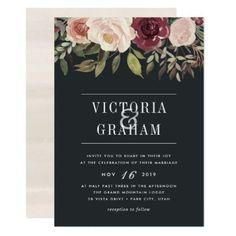 Moonlight Garden Wedding Invitation - wedding invitations diy cyo special idea personalize card