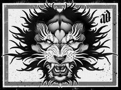 Chest Tattoo, Back Tattoo, Flash Tats, Line Art Design, Dot Work, Big Cats, Tattoo Inspiration, Blackwork, Hand Tattoos