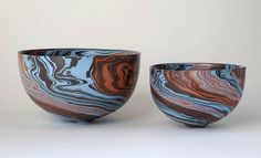 Spiral bowls by Ben Davies.