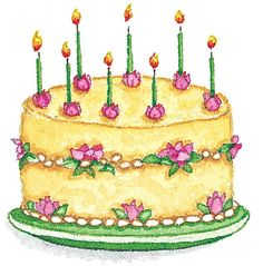 A sweet Susan Branch cake Happy Birthday Birthday Clips, Art Birthday, First Birthday Cakes, It's Your Birthday, Husband Birthday, Birthday Quotes, Happy Birthday Images, Happy Birthday Wishes, Birthday Greetings