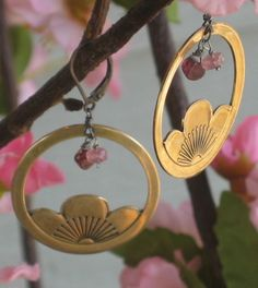 sakura earrings from 2007 Cherry Blossom, Beautiful Things, Handmade Jewelry, Craft Ideas, Earrings, Clothing, Crafts, Etsy, Accessories