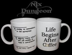 Some of Nix Dungeons best sellers are our Sublimated Products! These can be made custom just for you, or choose from our array of offensive/repulsive ready printed designs! Sublimation makes our prints superior to others, mugs can be washed time and time Retail Shop, Ceramic Mugs, Just For You, Ceramics, Coffee, Tableware, Prints, Life, Shopping
