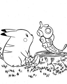 Cool Pokemon Caterpie And Pikachu Coloring Pages. Explore other coloring pages collection for kids and toddler in our site. Pokemon Coloring Sheets, Pikachu Coloring Page, Cartoon Coloring Pages, Coloring Book Pages, Pokemon Images, Pokemon Pictures, Coloriage Pokemon Mega, Colegio Ideas, Pokemon Craft
