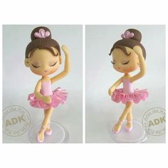 Beautiful for ballet party … Ballet Cakes, Ballerina Cakes, Polymer Clay Dolls, Polymer Clay Crafts, Kitkat Torte, Porcelain Dolls Value, Fine Porcelain, Ballerina Birthday Parties, Fondant Decorations