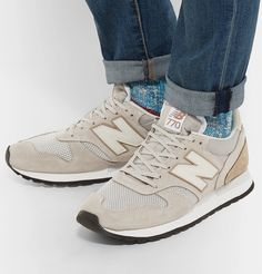 NEW BALANCE – 770 Leather, Nubuck And Mesh Sneakers