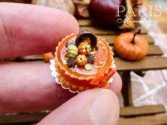 French Caramel and Chocolate Autumn Gateau - 12th Scale Miniature Food