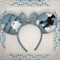 A Toy Story Inspired Mickey Ears Disney Hair Bows, Baby Hair Bows, Disney Ears, Tulle Headband, Baby Superhero, Magic Bands, Thing 1, Mickey Mouse Ears, Christmas Bows