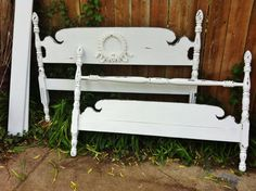 Antique Shabby Chic Poster Full Size Bed by antique2chic on Etsy, $325.00