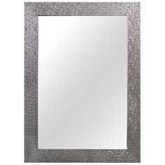 Home Decorators Collection 24.35 in. W x 35.35 in. L Framed Wall Mirror in Silver-81159 - The Home Depot