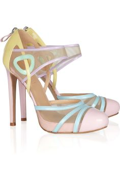 candy colours all in a shoe