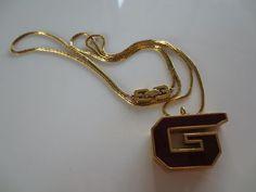 Vintage Givenchy Paris 1979 Enameled Logo Whistle Necklace