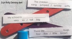 Creating sentence sticks for quick and easy writing