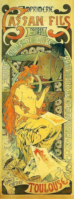 Imprimerie Cassan Fils - Alphonse Mucha
