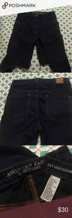 """American Eagle Jeggings AE sky high jeggings   Worn 2 times like new. Inseam 29"""" American Eagle Outfitters Jeans Skinny"""