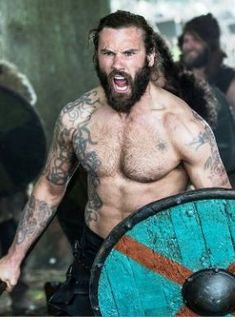 """Clive Standen as Rollo in Vikings (Season episode """"To the Gates""""). Vikings Show, Vikings Season, Vikings Tv Series, Lagertha, Viking Tattoo Meaning, Viking Tattoos, Norse Tattoo, History Channel, Rollo Lothbrok"""