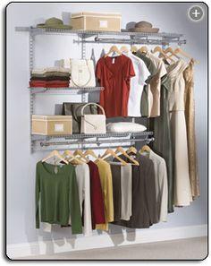 I Have Lots Of Closet Space To Organize. The Lost Cat   Rubbermaid  Configurations Classic Custom Closet Kit, Titanium