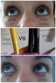 3D+ vs Covergirl. Younique mascara. www.youniqueproducts.com/crummy