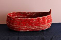 Check out this item in my Etsy shop https://www.etsy.com/listing/399158547/red-n-denim-basket-oval-boat-shape