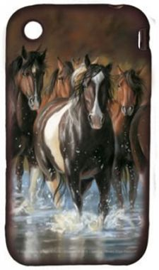 Majestic Horse Laser Engraved Leather Checkbook Cover