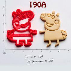 Peppa Pig Cookie Cutter notaa peppa pig invitation peppa pig birthday peppa pig dress peppa pig shirt peppa pig party peppa cake topper 190A (6.80 USD) by TopCookieMore http://ift.tt/1TqSMSU