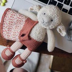 Little sheep handmade by myself ❤️ littlecottonrabbits knittingforbaby knittingmom knittingclass knittinglover knittingtoys knittingyarn knittingtime knittingproject knittinglife knittingbaby knittingfriends knittingwool knittinglove knittingiscool Knitted Stuffed Animals, Knitted Bunnies, Handmade Stuffed Animals, Knitted Animals, Knitted Dolls, Animal Knitting Patterns, Stuffed Animal Patterns, Knitting Wool, Baby Knitting