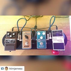 #Repost @hiimjamesc with @repostapp. New board for a new band. Reppin' that @raygunfx! #pedals #pedalboard #board #effects #guitarpedals #guitars #fuzz #fender #boss #skateboard #skate #fx
