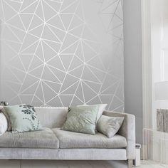 Zara Shimmer Metallic Wallpaper Soft Grey, Silver (ILW980109)